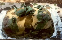 My Homemade Camo Cake